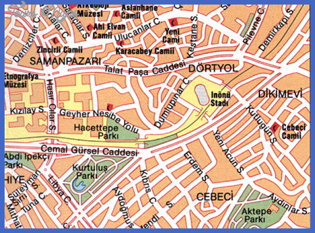 ankara map Ankara Map Tourist Attractions