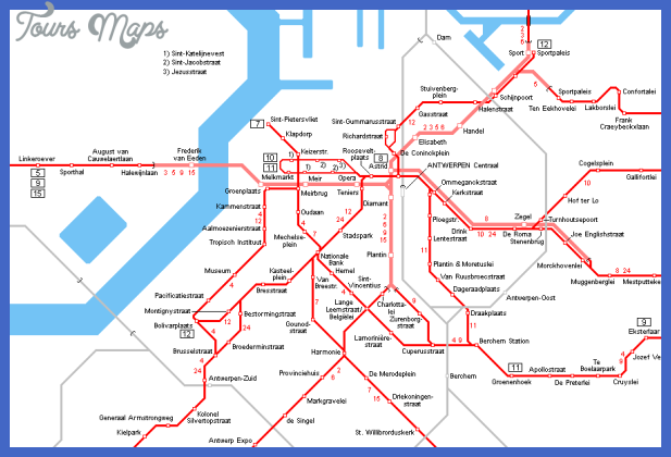 antwerpen centre map Belgium Metro Map