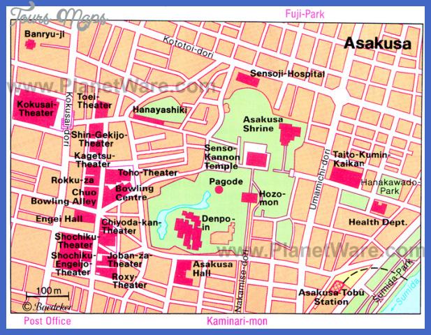 asakusa map Tokyo Map Tourist Attractions