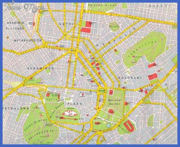 athens map Athens Map