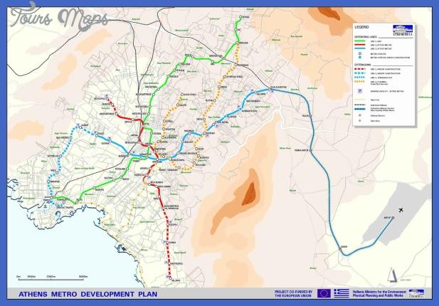 athens metro map 1 Athens Subway Map