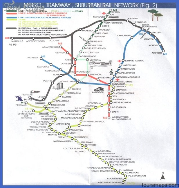 athens metro map Athens Subway Map