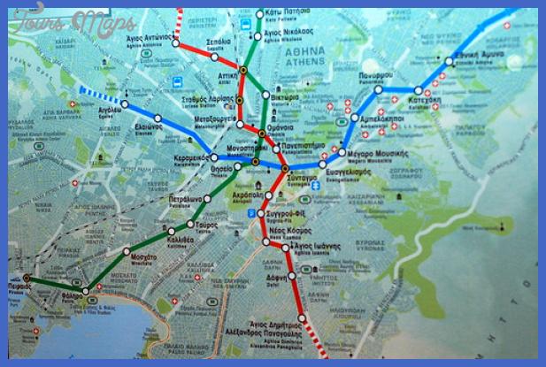 Subway Map Athens.Athens Subway Map Toursmaps Com