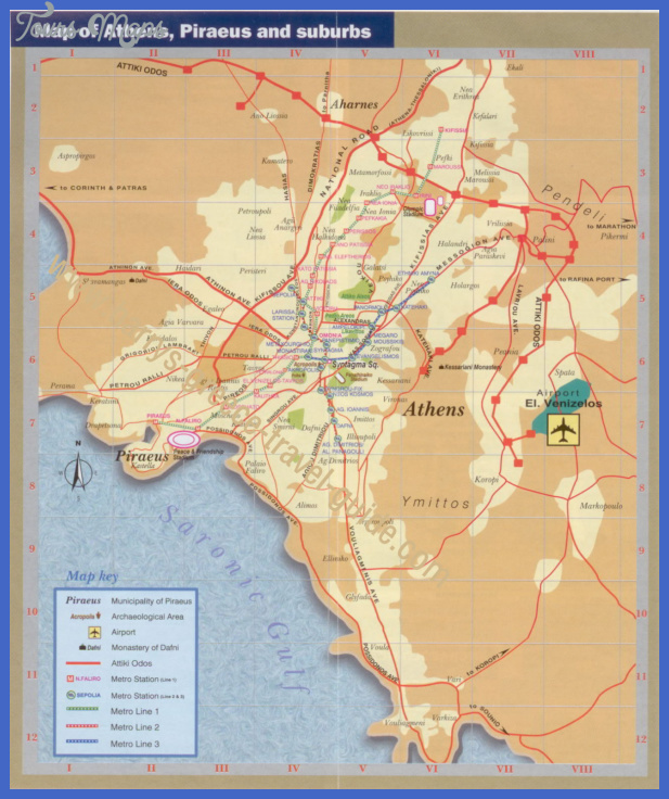 athens tourist map 2 Greece Map Tourist Attractions