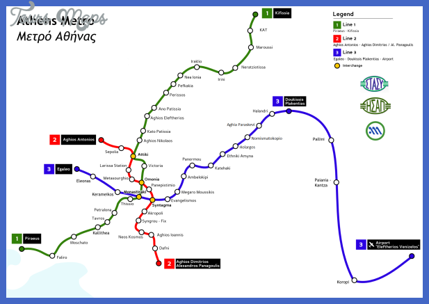 athens metro 2007 Athens Subway Map