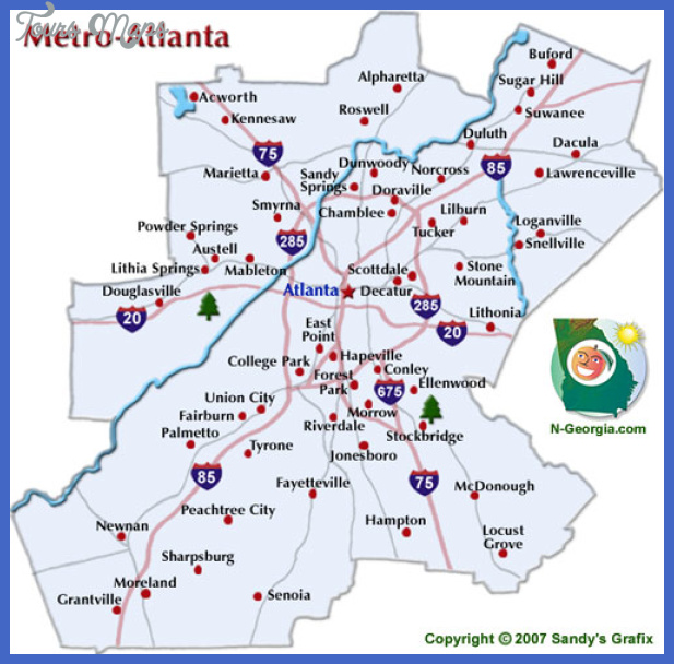 Atlanta Map Map Travel Holiday Vacations - Georgia map duluth