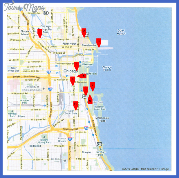 attractions Chicago Map Tourist Attractions