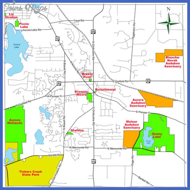aurora city parks map mediumthumb Aurora Map