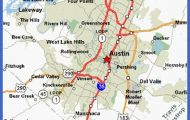 Austin, Texas Map