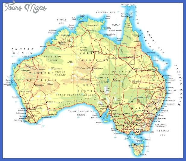 australia map 3 Australia Map