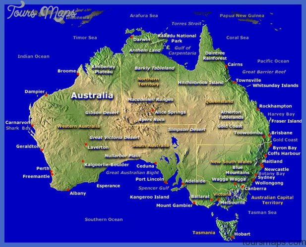 Australia Tourism | Australia Tourist Attractions | Map Of Australia ...