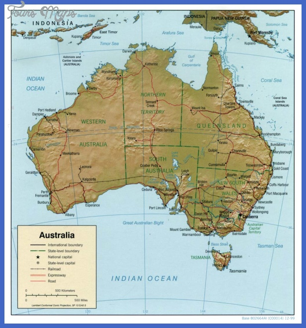 australia rel 1999 Australia Map