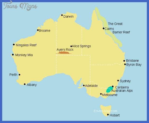 australian tourist map Australia Map Tourist Attractions