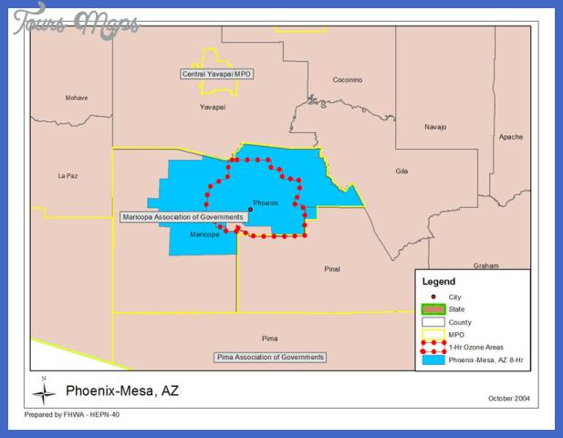 az phoenixmesa Phoenix Mesa Map