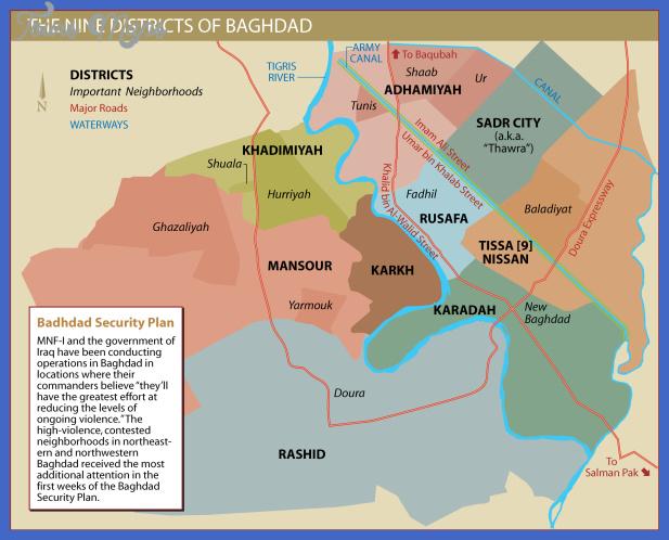Baghdad Map - ToursMaps.com ®