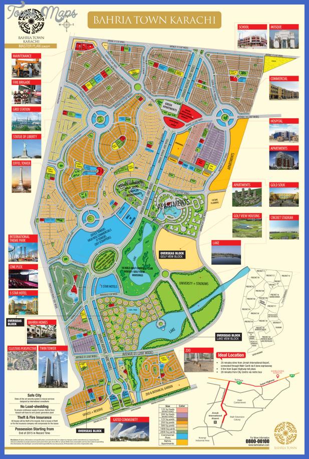 bahria town karachi master plan 1 Karachi Map