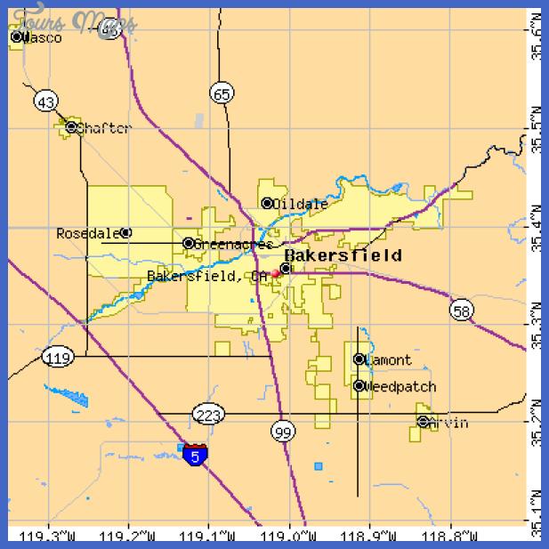 bakersfield city limits map mediumthumb Bakersfield Map