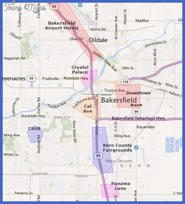 bakersfield map 0 Bakersfield Map