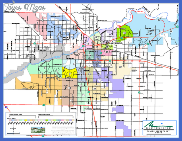 bakersfield police beats map mediumthumb pdf Bakersfield Map