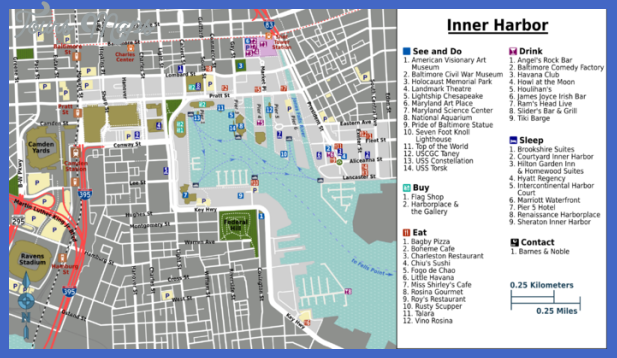 baltimore map tourist attractions 1 Baltimore Map Tourist Attractions