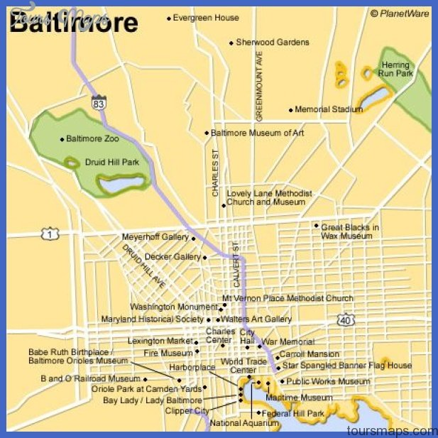 baltimore map tourist attractions 3 Baltimore Map Tourist Attractions