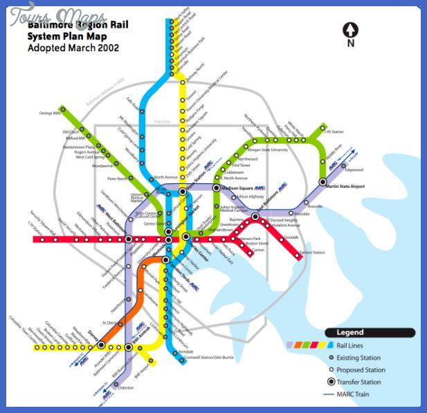 baltimore subway map 0 Baltimore Subway Map