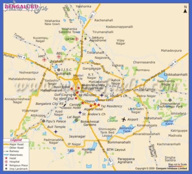 bangalore city map w500h454 Bangalore Map