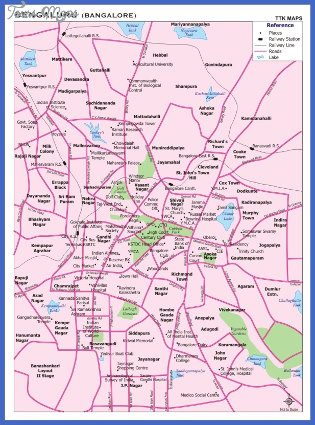 bangalore map  7 Bangalore Map