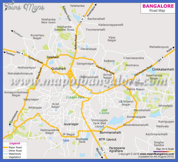 bangalore road map Bangalore Map