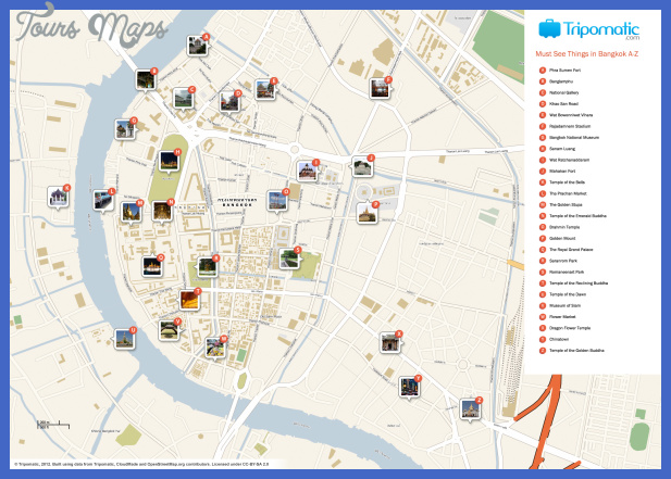 bangkok map tourist attractions  1 Bangkok Map Tourist Attractions