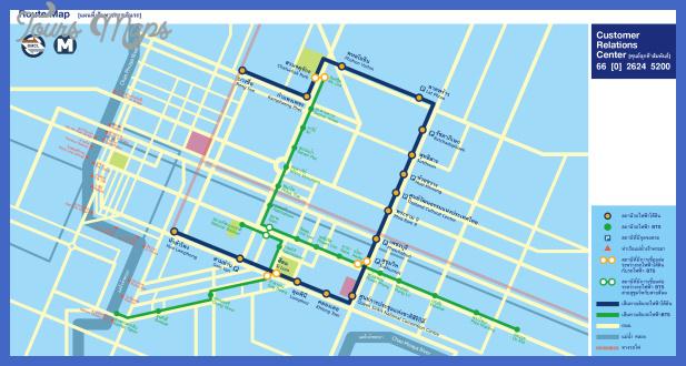 bangkok metro route map Bangkok Metro Map
