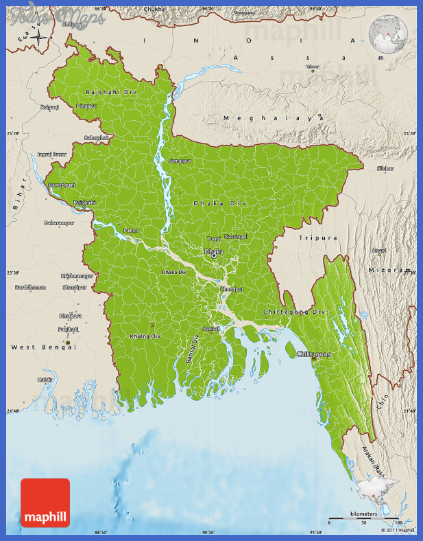 bangladesh map  10 Bangladesh Map