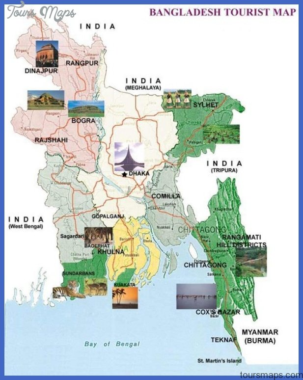 Bangladesh Tourist Map - Bangladesh • mappery