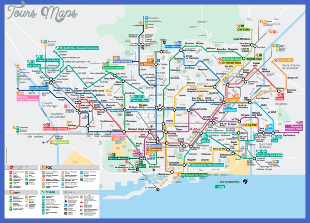 barcelona 1 Toronto Metro Map