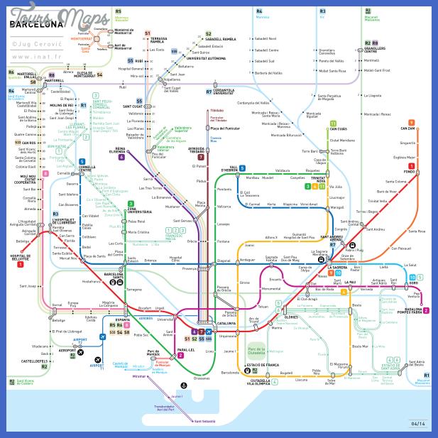 Subway Map Barcelona.Barcelona Subway Map Toursmaps Com