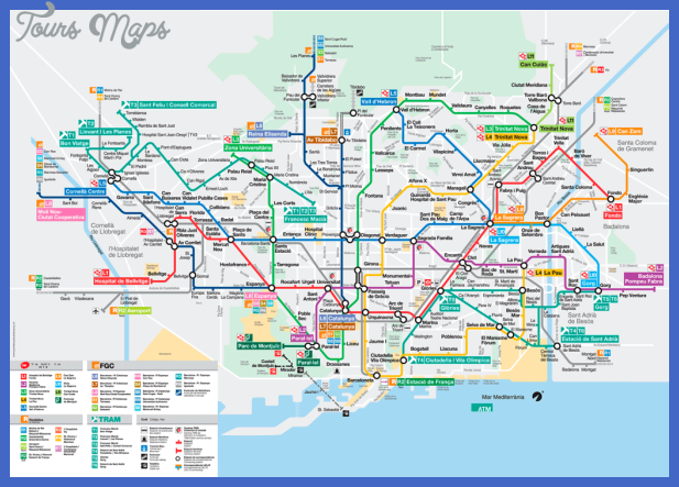 barcelona Toronto Metro Map