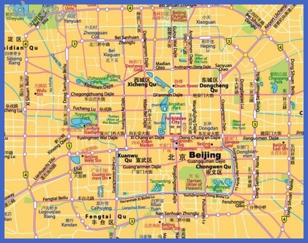 beijing map tourist attractions  5 Beijing Map Tourist Attractions