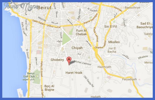 beirut map 3 Beirut Map