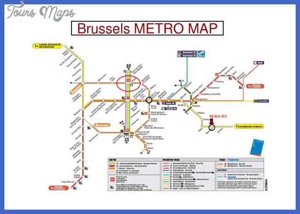 Belgium Metro Map ToursMapscom