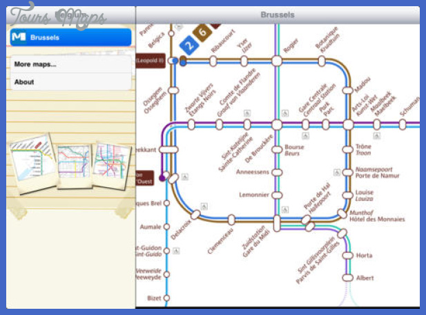 belgium subway map 1 Belgium Subway Map