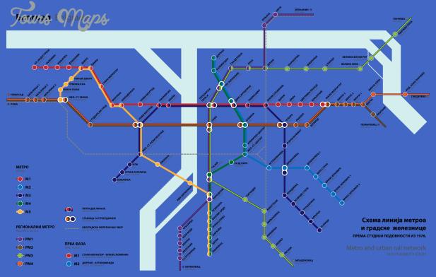belgrade Serbia Subway Map