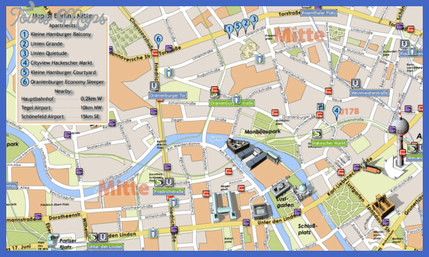 Berlin Map Tourist Attractions - ToursMaps.com ®