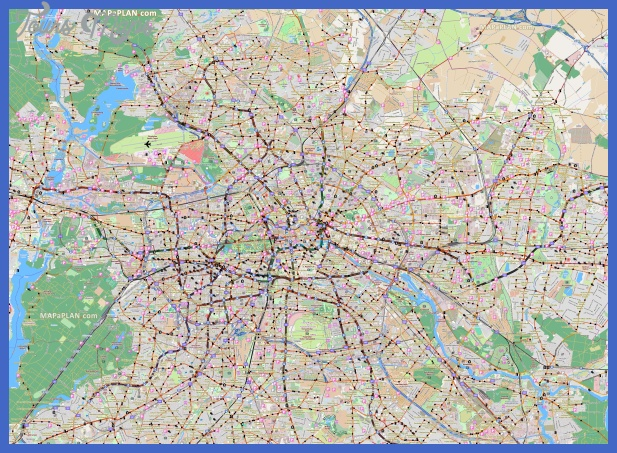 berlin top tourist attractions map 17 map showing directions to car park locations tegel airport river spree high resolution Berlin Map Tourist Attractions