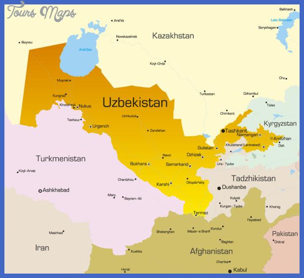 Tashkent Map ToursMapscom