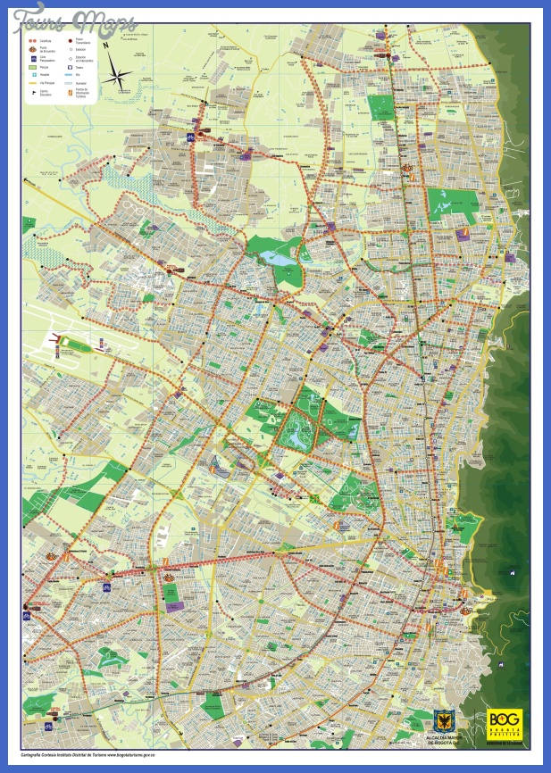 bogota bike map 2 Colombia Subway Map