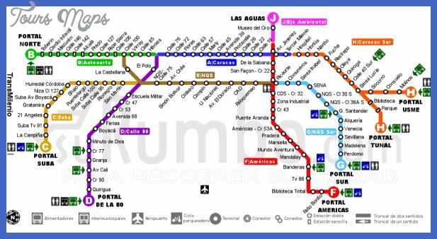 bogota metro map  0 Bogota Metro Map