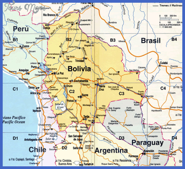 Mapa de Bolivia | Metro Map | Bus Routes | Metrobus Way Map ...