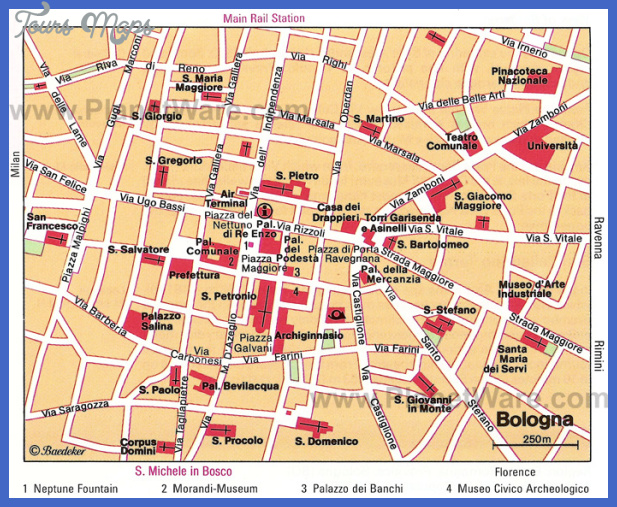bologna map Boise City Map Tourist Attractions