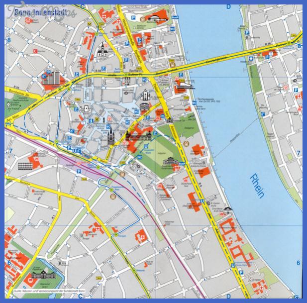 bonn tourist map mediumthumb Cologne Bonn Map