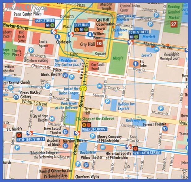 Philadelphia Map Tourist Attractions ToursMapsCom – Philadelphia Tourist Map